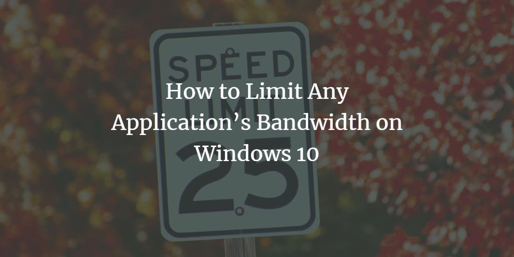 how to limit application bandwidth on iphone
