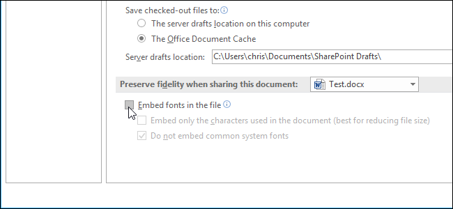 how to embed fonts in pdf from word