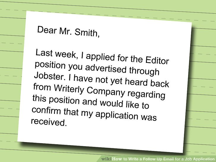 following up job application email subject