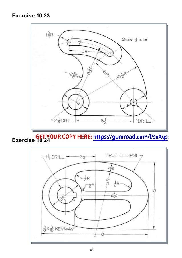 autocad drawing exercises for beginners pdf