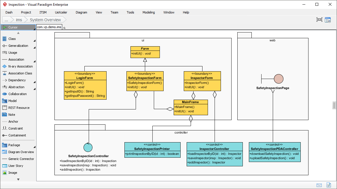event planning application sequence diagram